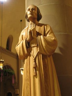 Jean Statue Wood St. Joseph's Chapel